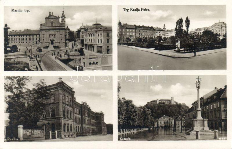 Ljubljana, Marijin trg, Trg Kralja Petre, Zvezda, Realka / squares, school
