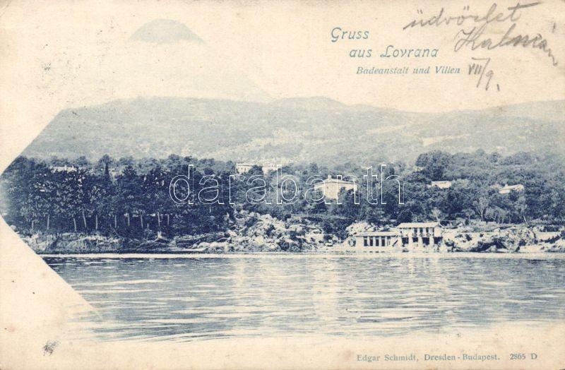 1899 Lovran, Lovrana; Badeanstalt, Villen / spa, villas