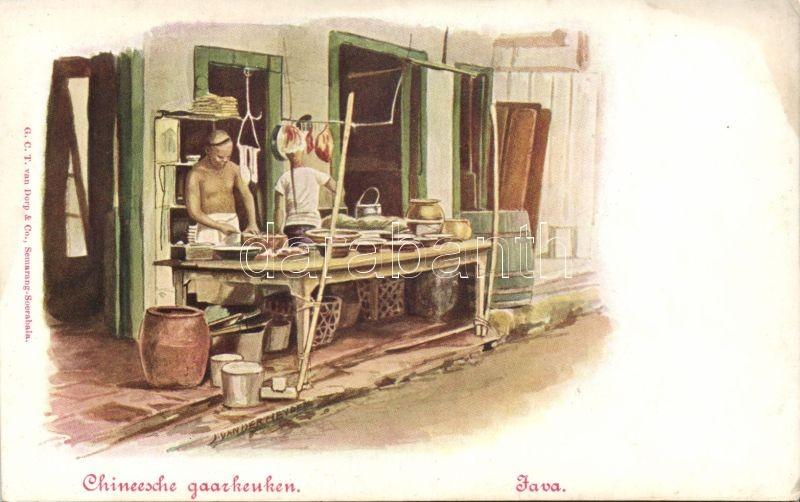 Java, Chineesche gaarkeuken / Java, Chinese soup kitchen, folklore s: Jan van der Heyden