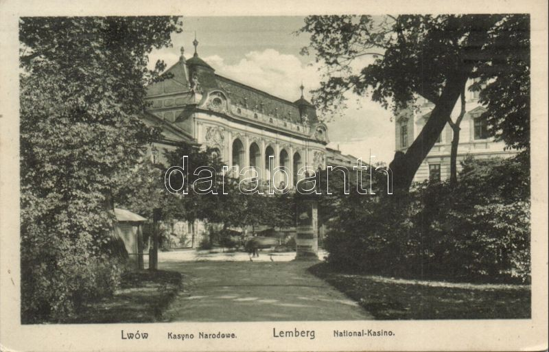 Lviv, Lwów, Lemberg; Kasyno Narodowe / casino