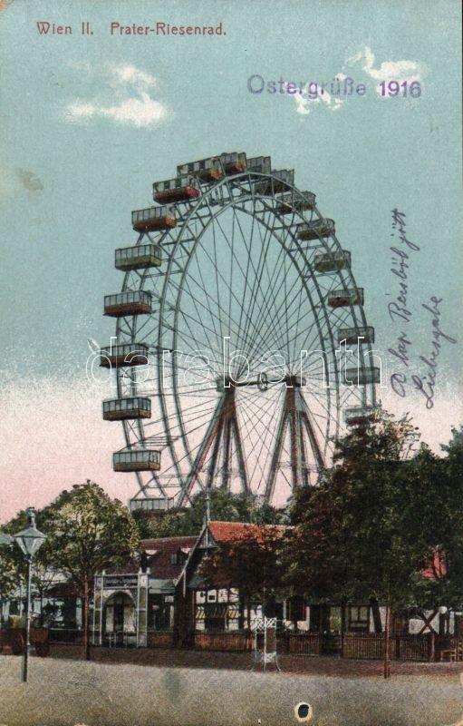 Vienna II. Prater, Ferris Wheel, Bécs II. Prater, óriáskerék, Wien II. Prater-Riesenrad
