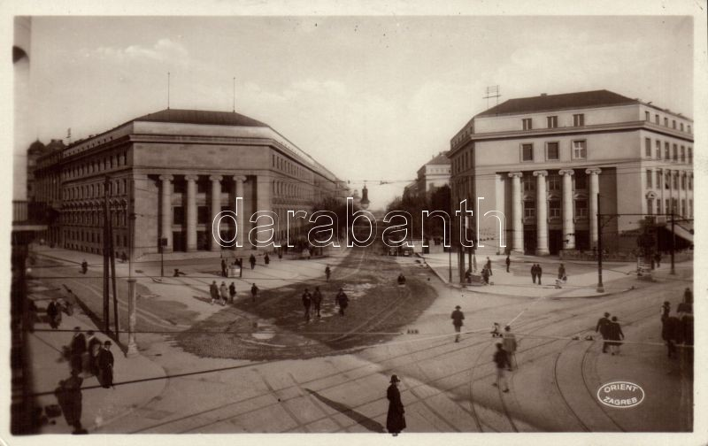 Zagreb, Ulica Rackoga, Burza, Dom inzenjera i arhitekta / street,  Stock Exchange,  Home of Engineer and Architect