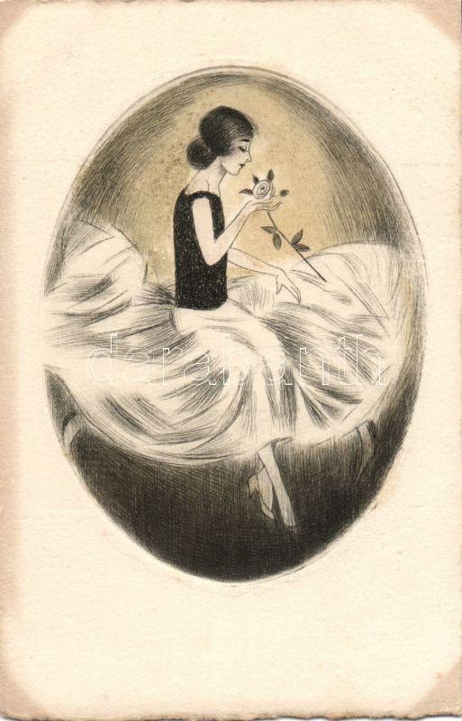 Lady with rose, Hölgy rózsával