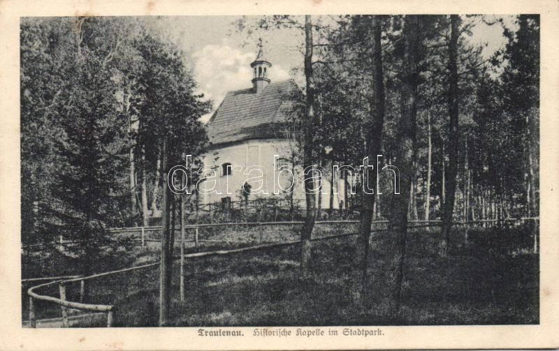 Trutnov, Trautenau; historische Kapelle, Stadtpark / chapel, park
