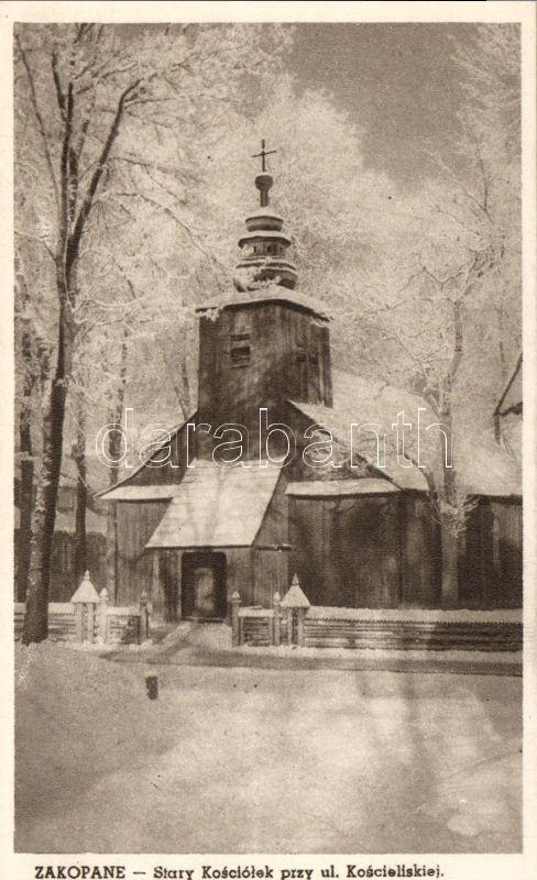 Zakopane, Stary Kosciolek przy ul. Koscieliskiej / old church, street