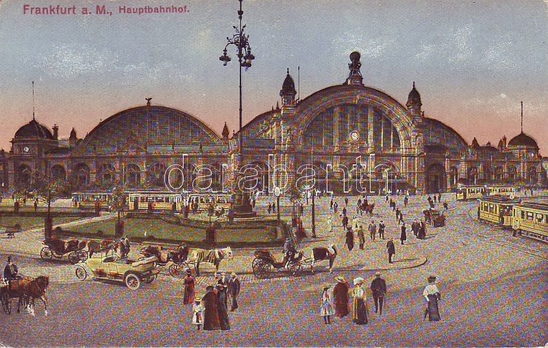 Frankfurt, Berlin Central Station, trams, Frankfurt, Hauptbahnhof, Straßenbahnen
