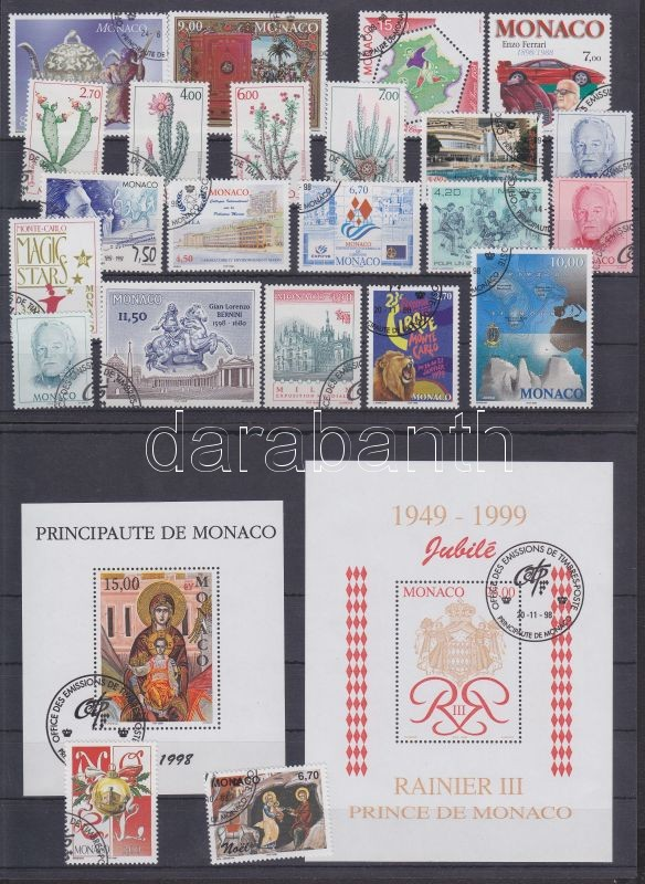 37 different stamps in complete sets + 2 different blocks, 37 klf bélyeg teljes sorokban + 2 klf blokk 3 stecklapon, 37 verschiedene Marken in ganzen Sätzen + 2 verschiedene Blöcke