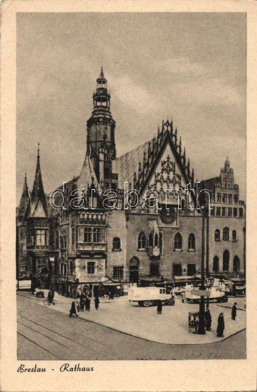 Wroclaw, Rathaus / Town hall, trucks