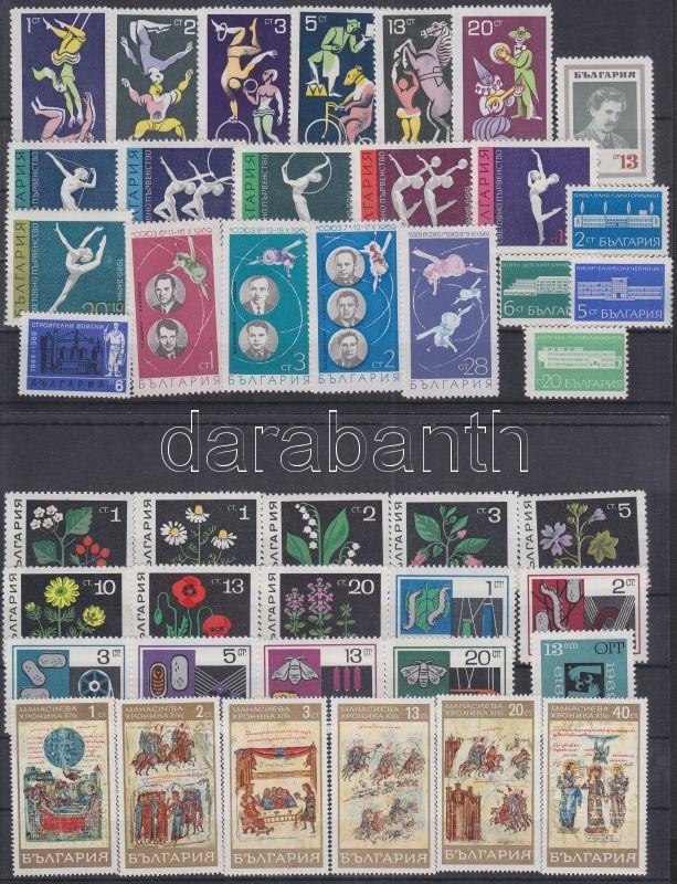 71 different stamps in complete sets + 1 minisheet, 71 klf bélyeg teljes sorokban + 1 kisív (4 stecklapon), 71 verschiedene Marken in ganzen Sätzen + 1 Kleinbogen