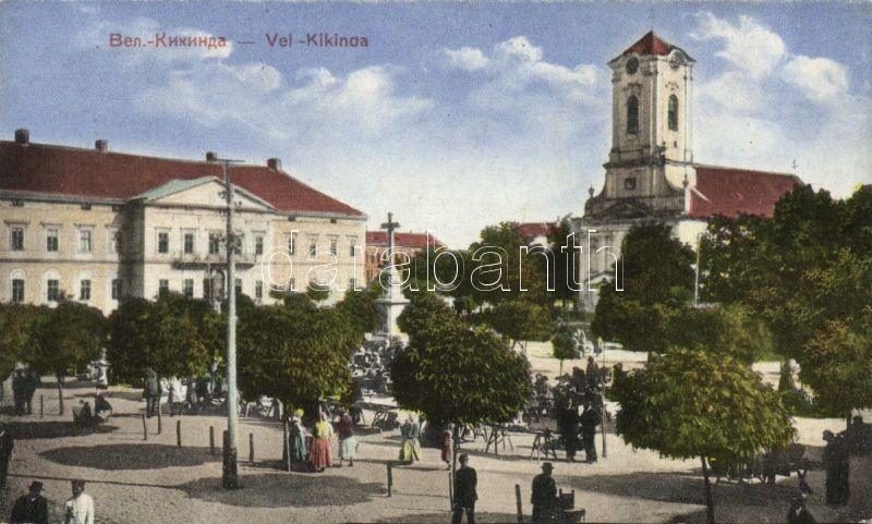 Kikinda, square, church, Nagykikinda, tér, templom