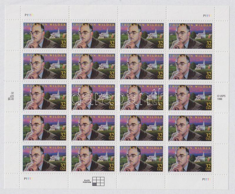 1997 Thornton N. Wilder, író születésének 100. évfordulója kisív 20 x Mi 2812