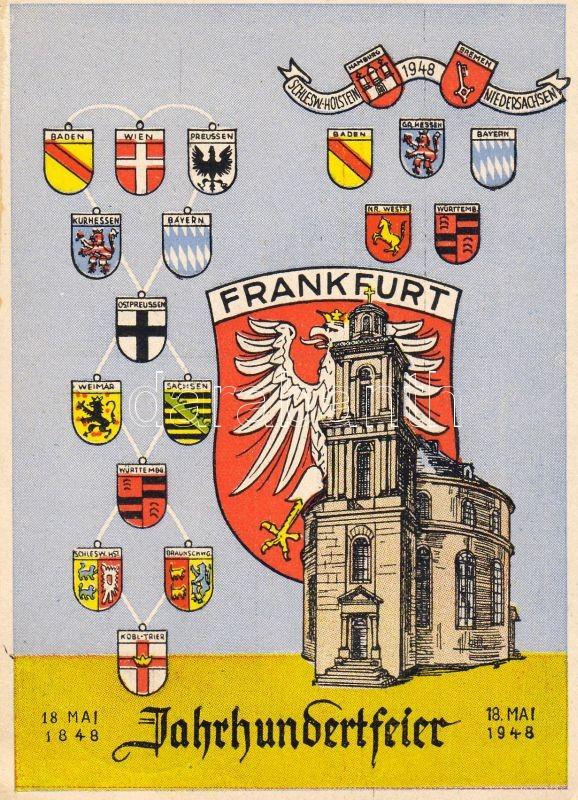 Frankfurt, Century Celebration, Saint Paul's Church, coat of arms, Frankfurt, Jahrhundertfeier, Paulskirche, Wappen