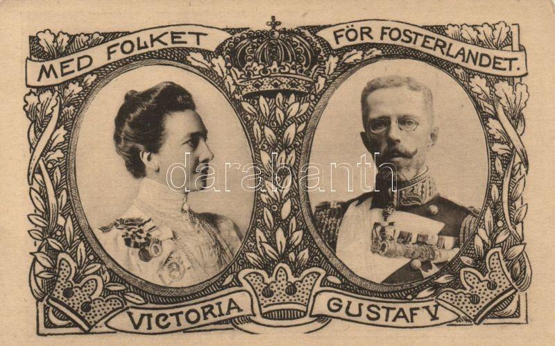 Victoria of Baden, Gustaf V, Viktória svéd királyné, V. Gusztáv svéd király