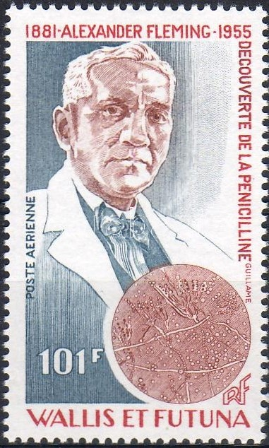 Alexander Fleming (Nobel-prized) stamp, Alexander Fleming (Nobel-díjas) bélyeg, Alexander Fleming (Nobelpreisträger) Marke