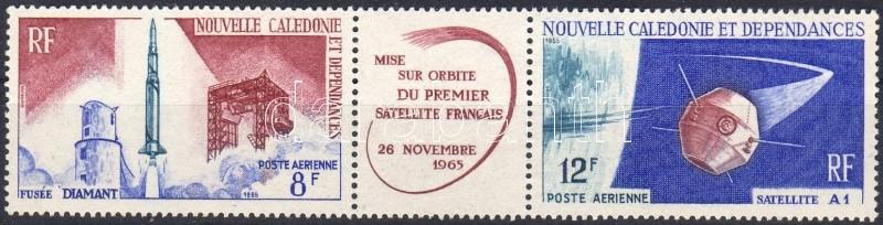 Első francia műhold hármascsík, First french satelite stripe of 3, Der erste französische Weltraumsatellit Dreierstreifen