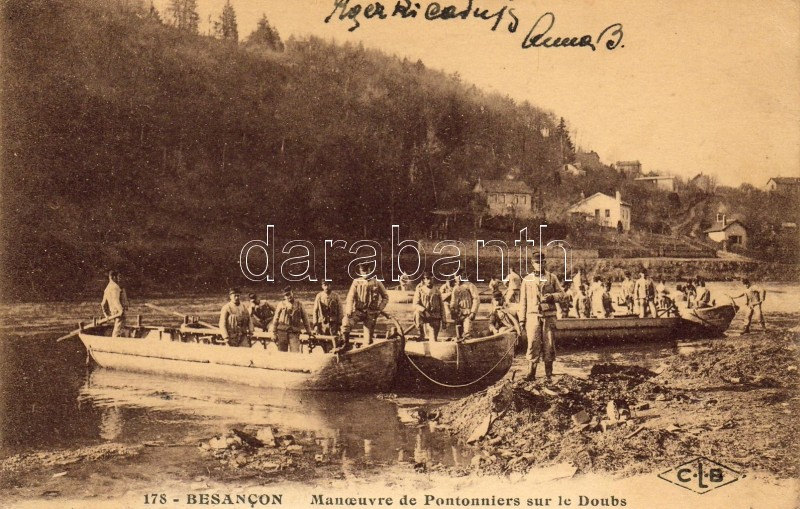 Besancon, Pontoniere maneuver on the Doubs river