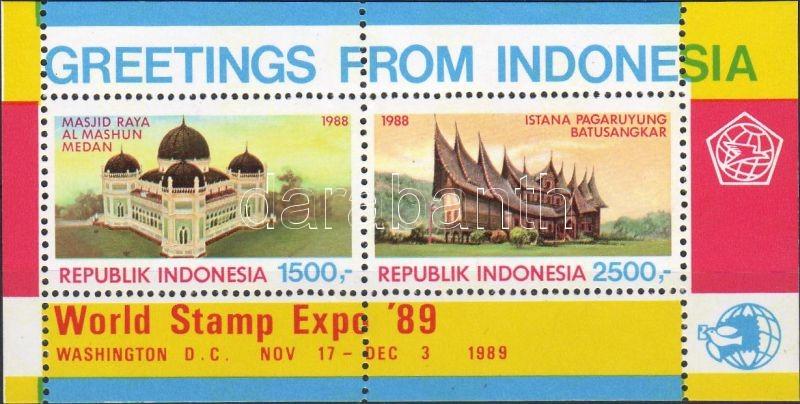 International stamp exhibition WORLD STAMP EXPO block, WORLD STAMP EXPO nemzetközi bélyegkiállítás blokk, Internationale Briefmarkenausstellugn WORLD STAMP EXPO Block