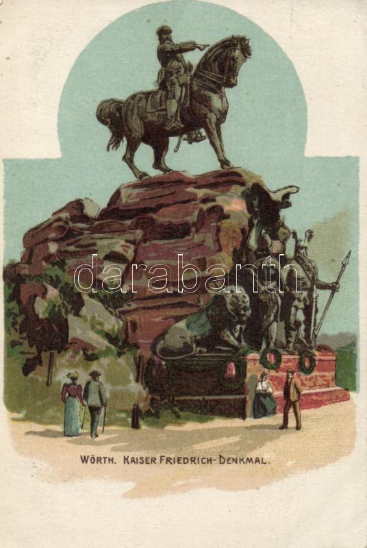 Wörth Friedrich monument litho