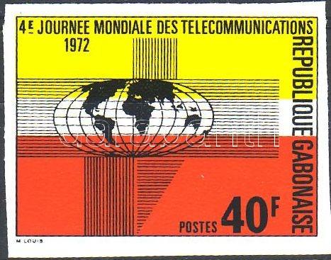 World Telecommunication Day imperforated stamp, Távközlési világnap vágott bélyeg