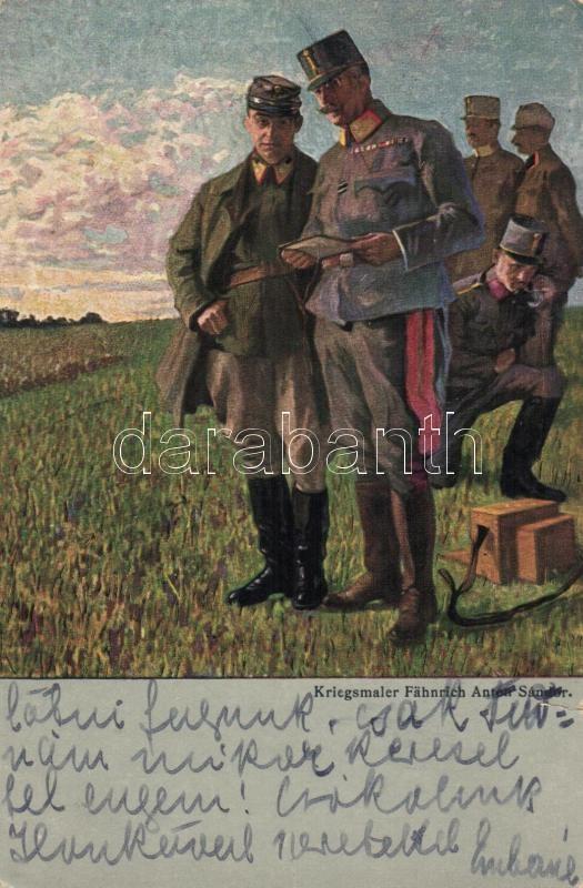WWI K.u.K. military officers s: Anton Sándor, Első világháborús osztrák-magyar katonák s: Anton Sándor