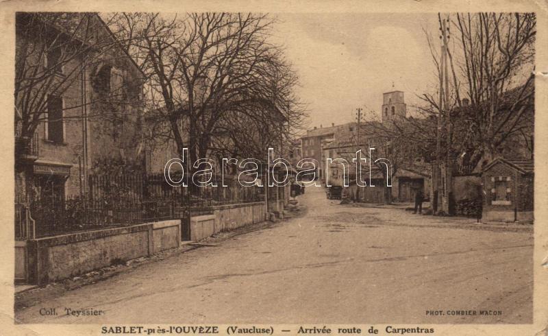 Sablet-pres-l'Ouveze, Arrive route de Carpentras / arriving road
