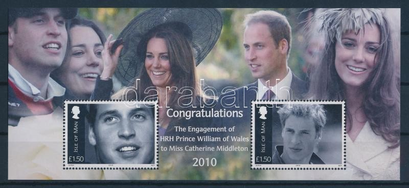 Vilmos herceg és Catherine Middleton eljegyzése blokk Verlobung von Prinz William und Catherine Middleton Block Engagement of Prince William and Catherine Middleton block