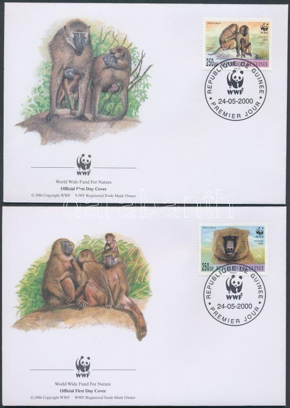 WWF Majmok sor 4 FDC WWF Affen Satz 4 FDC WWF Monkeys set 4 FDC