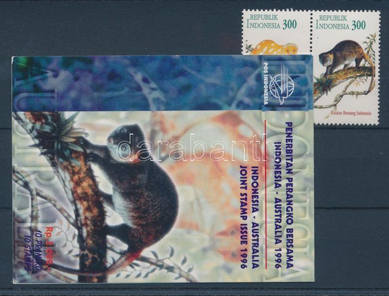 Kind of monkey pair + stampbooklet Kuskuse Paar + Markenheftchen Majomfélék pár + bélyegfüzet