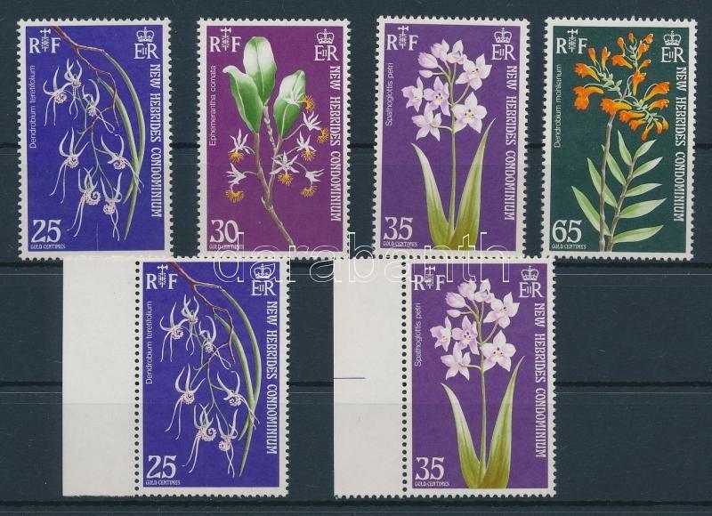 Orchids + 355 and 357 with lying watermark, Orchideák + 355 és 357 fordított fekvő vízjellel