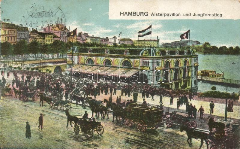 Hamburg, Alsterpavillon, Jungfernstieg / pavilion