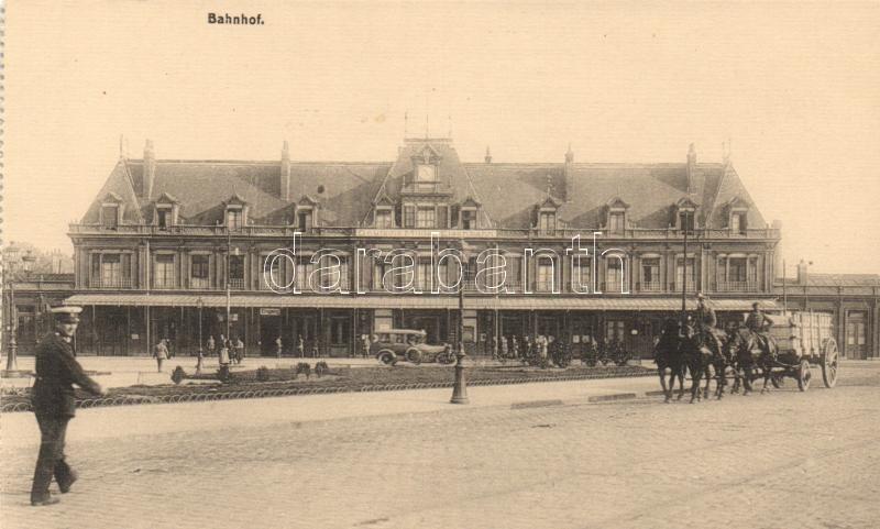 Saint-Quentin, Deutsche-Militär Eisenbahn / German Military Railway Station, automobile