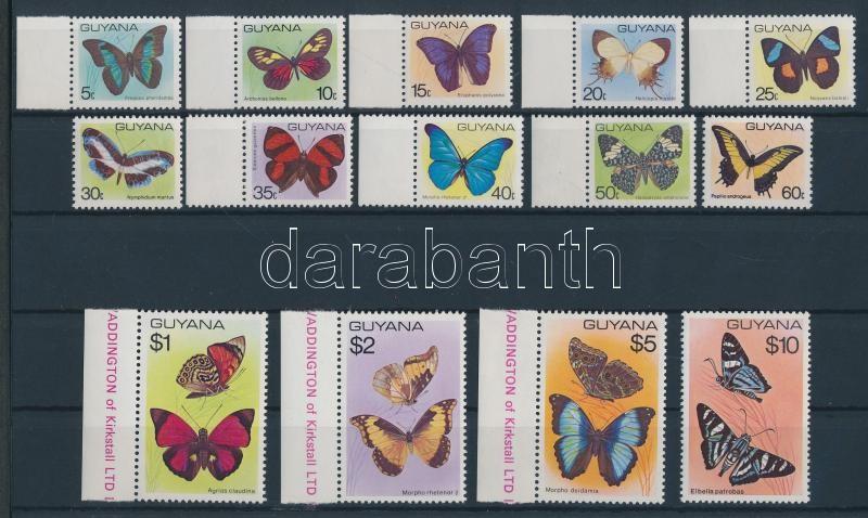 1978/1980 Butterflies 2 sets with margin stamps 1978/1980 Schmetterlinge 2 Sätze, manche Marken mit Rand 1978/1980 Lepkék 2 sor, közte ívszéli bélyegek