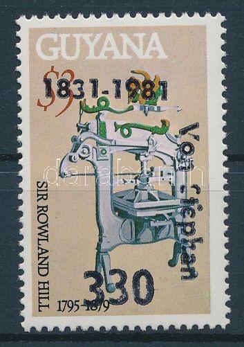 Heinrich von Stephan felülnyomott bélyeg Heinrich von Stephan Marke mit Aufdruck Heinrich von Stephan overprinted stamp