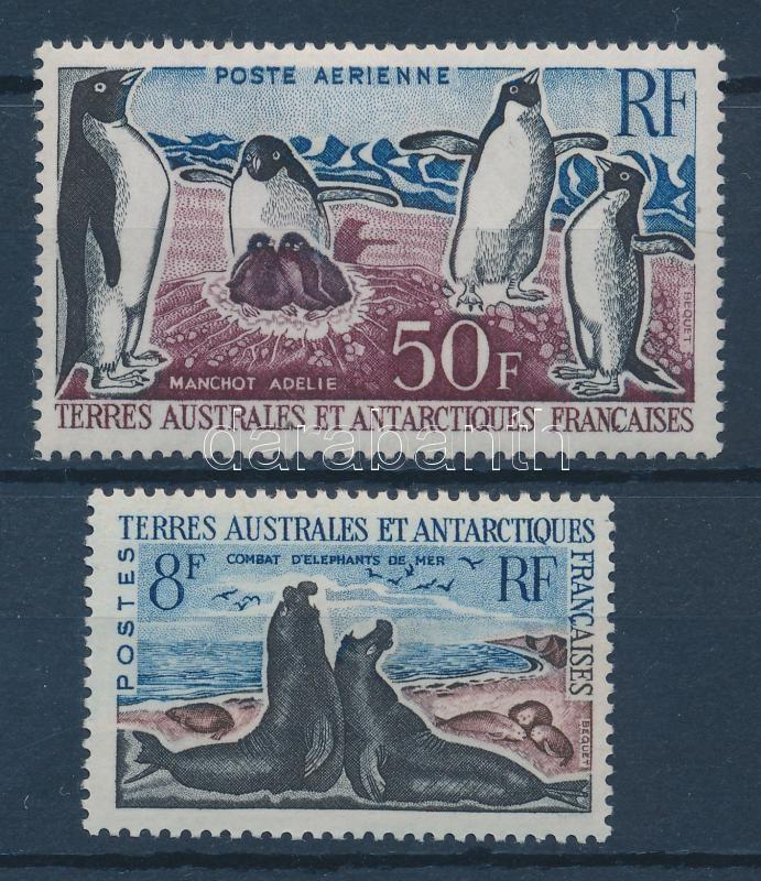 Animals 2 diff. stamps Tiere 2 verschiedene Marken Állatok 2 klf bélyeg