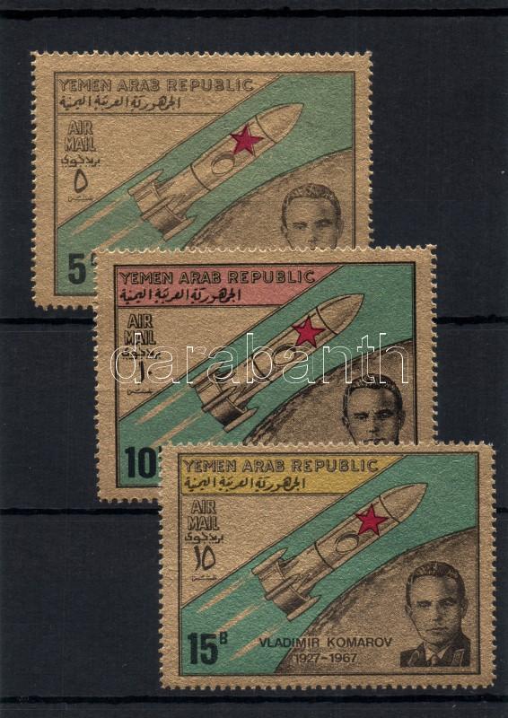 The 1st anniversary of the death of Komarov astronaut (I) set 1. Todestag des russischen Raumpoiloten Komarow (I) Satz Komarow űrpilóta halálának első évfordulója (I.) sor