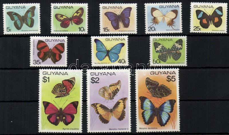 Lepkék sor (15C értéken pici gumihiba) Schmetterlinge Satz (15C kleine Störung im Gummi) Butterflies set (15C minor gum fault)