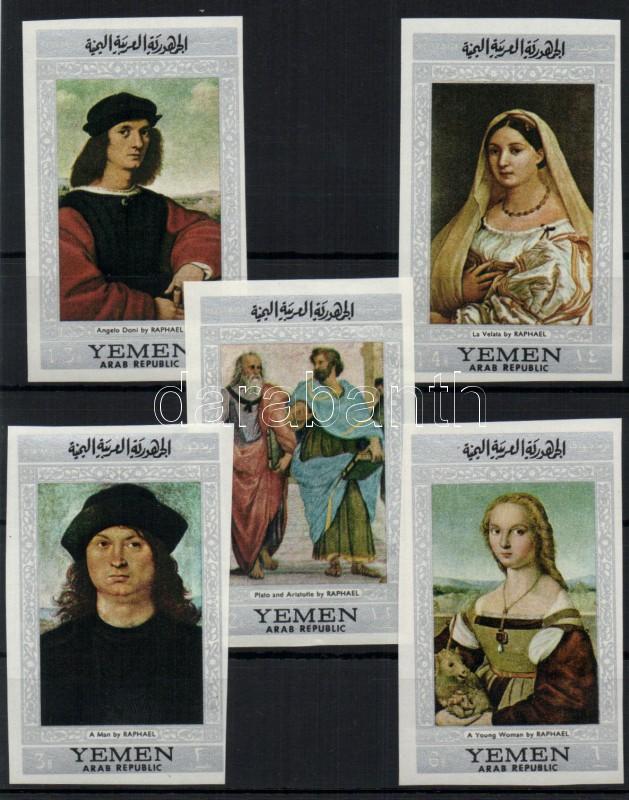 Paintings by Raffaello (II) set Raffael-Gemälde (II) Satz Raffaello festmények (II.) sor