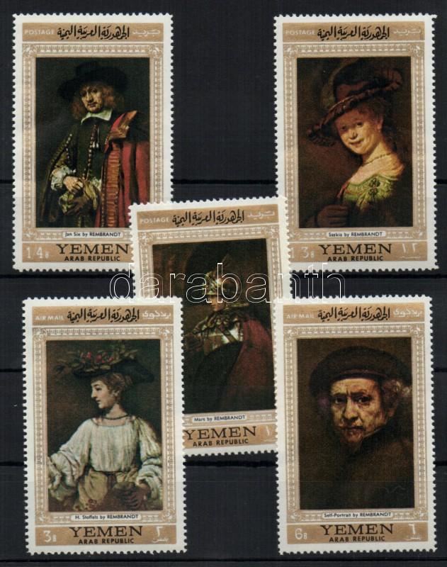 Paintings by Rembrandt (I) set Rembrand-Gemälde (I) Satz Rembrandt festmények (I.) sor