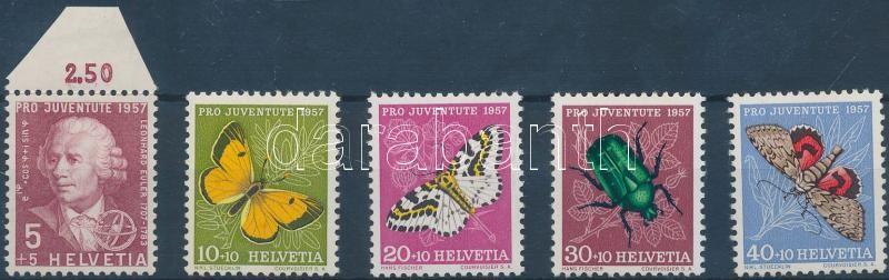 Pro Juventute sor, egyik bélyeg ívszéldarabbal Pro Juventute Satz, eine der Marken mit einem Teil des Randes Pro Juventute set, one of the stamps with a part of the marge