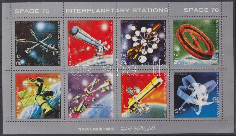 Space travel (I) minisheet Raumfahrt (I) Kleinbogen Űrutazás (I.) kisív