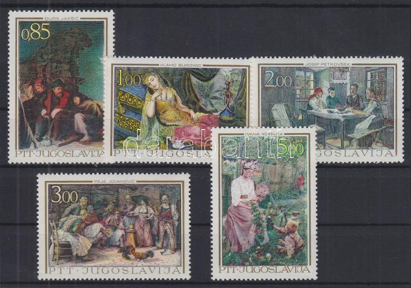 Jugoslavian art, paintings of the 19th century set Jugoslawische Kunst, Gemälde des 19. Jahrhunderts Satz Jugoszláv művészet, 19. századi festmények sor
