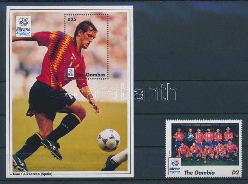 European Football Cup, England stamp + block Fußball-Europameisterschaft, England Marke + Block Futball EB, Anglia bélyeg + blokk