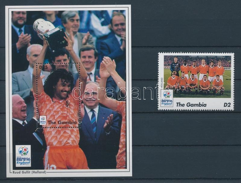 European Football Cup, England, Participating Countries and Players stamp + block Fußball-Europameisterschaft, England Marke + Block Futball Európa-bajnokság, Anglia bélyeg + blokk