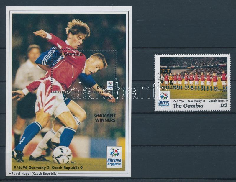 Futball Európa-bajnokság, Anglia bélyeg + blokk Fußball-Europameisterschaft, England Marke + Block European Football Cup, England stamp + block
