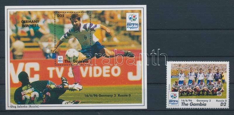 European Football Cup, England stamp + block Fußball-Europameisterschaft, England Marke + Block Futball Európa-bajnokság, Anglia bélyeg + blokk