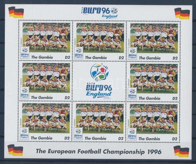 European Football Cup, England minisheet Fußball-Europameisterschaft, England Kleinbogen Labdarúgó Európa-bajnokság, Anglia kisív