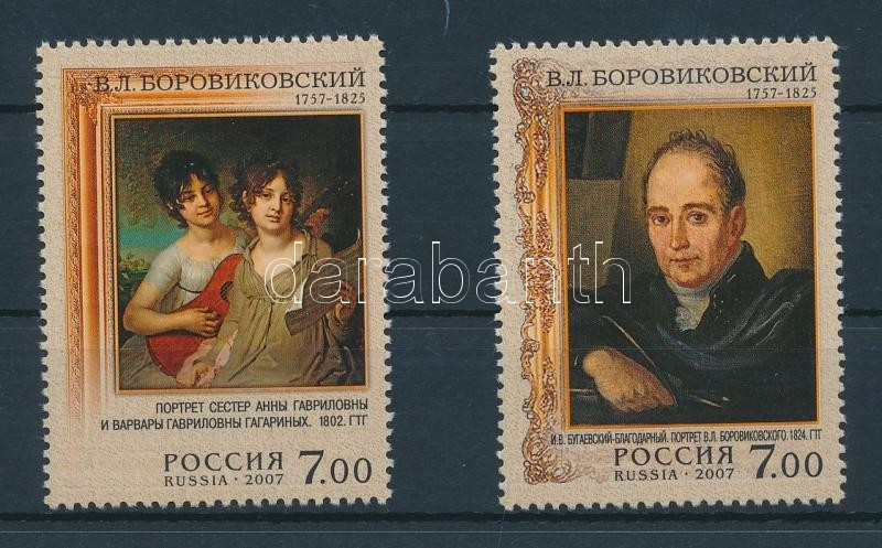 250th birthday of Vladimir Borovikovsky set + minisheet set 250. Geburtstag von Wladimir Borowikowskij Satz + Kleinbogensatz 250 éve született Wladimir Borowikowskij sor + kisívsor 3 stecklapon
