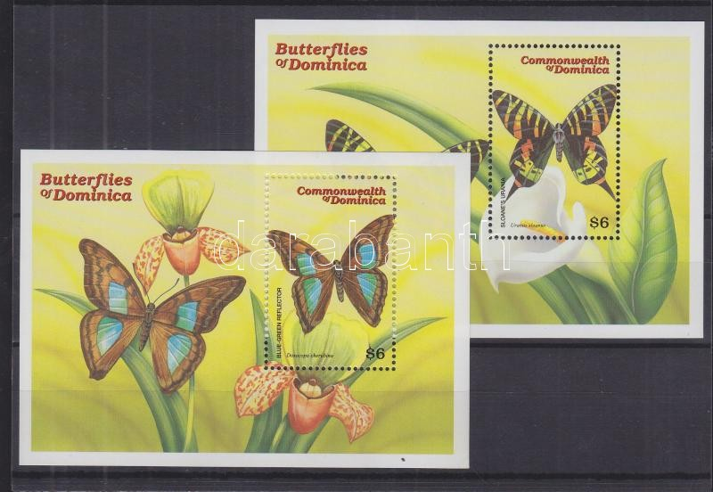 Butterlfies 2 blocks Schmetterlinge 2 Blöcke Lepkék 2 blokk