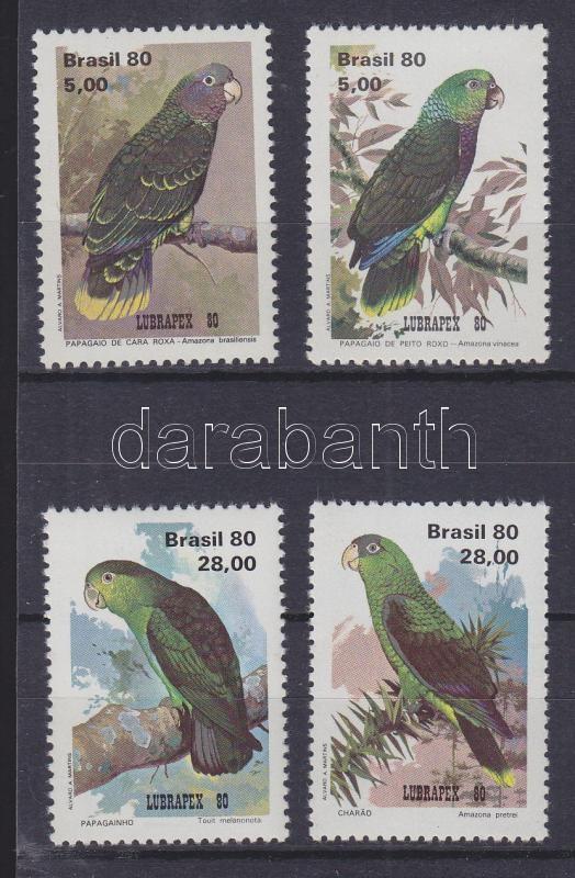 Lubrapex stamp exhibition: parrots set Lubrapex Markenausstellung: Papageien Satz Lubrapex bélyegkiállítás: Papagájok sor