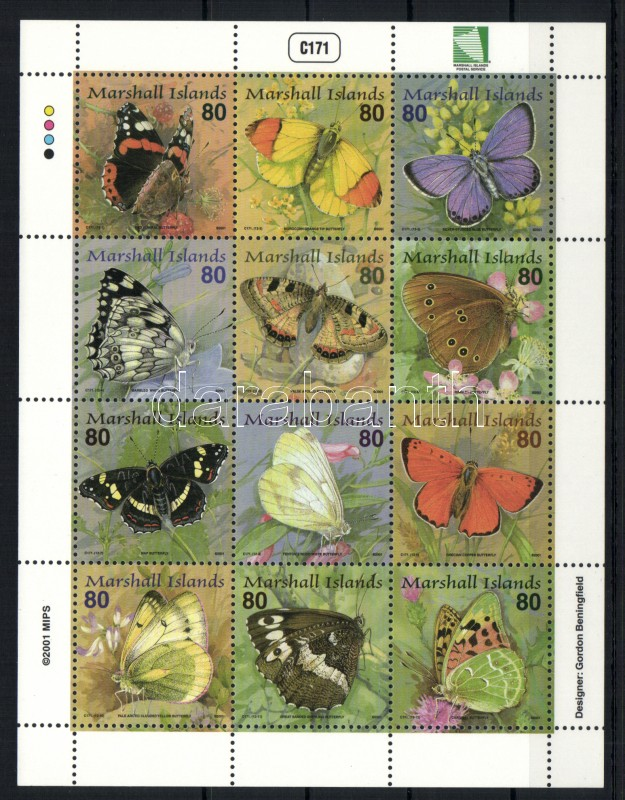 Butterflies complete sheet Schmetterlinge Zd-Bogen Lepkék teljes ív